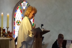 Clem preaching for Mary