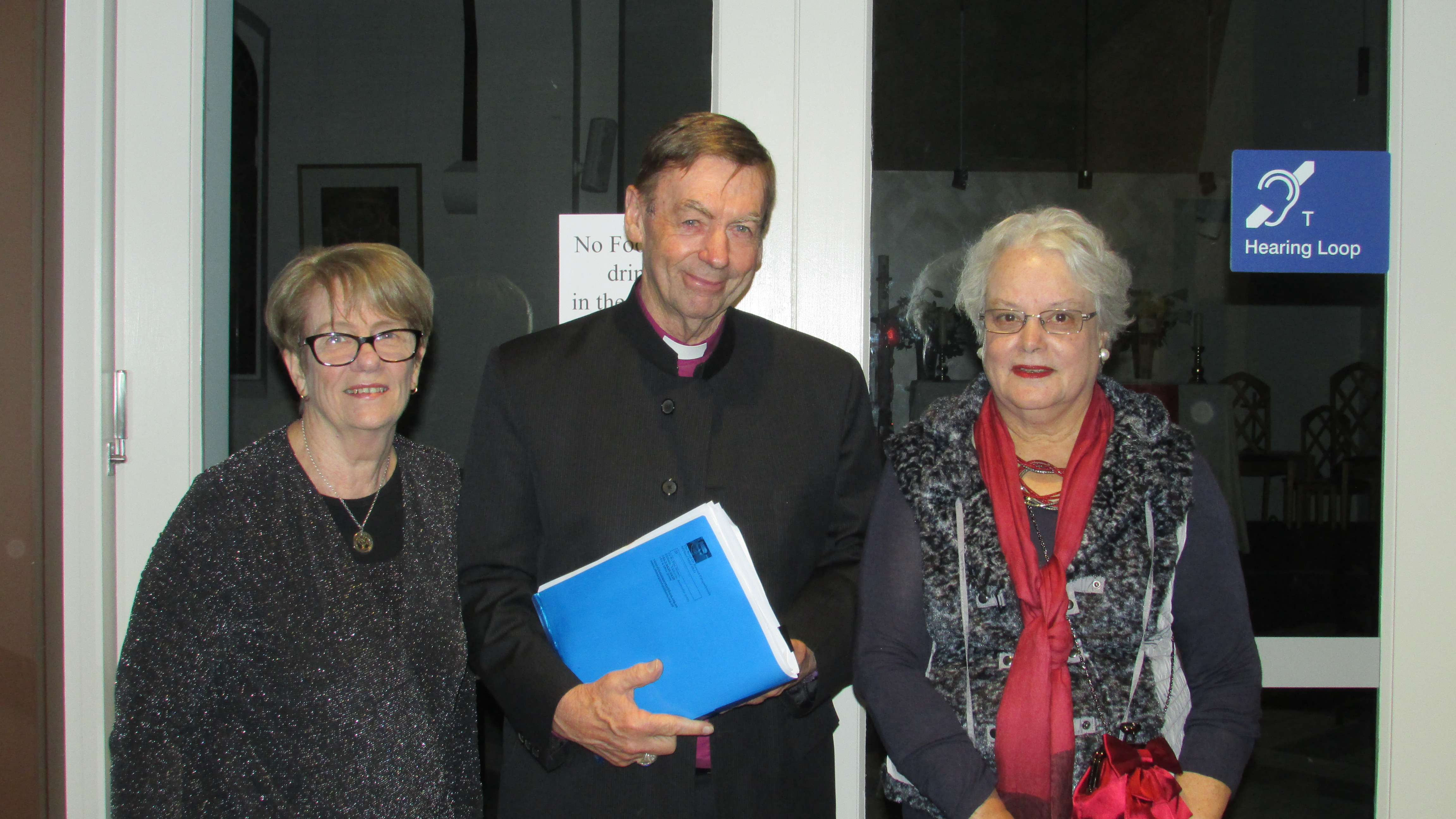 Bishop Philip Huggins, Kathleen Toal & Diana Warrell