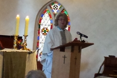 Clem preaching