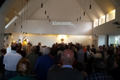 Church packed to overflowing
