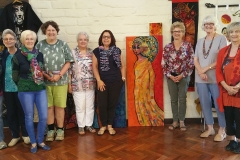 The Embryonic Dabblers with the felting display
